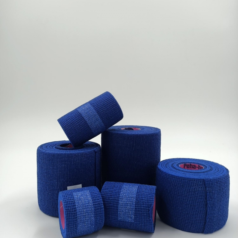 Blauwe latexvrij fixatiezwachtel Peha-haft