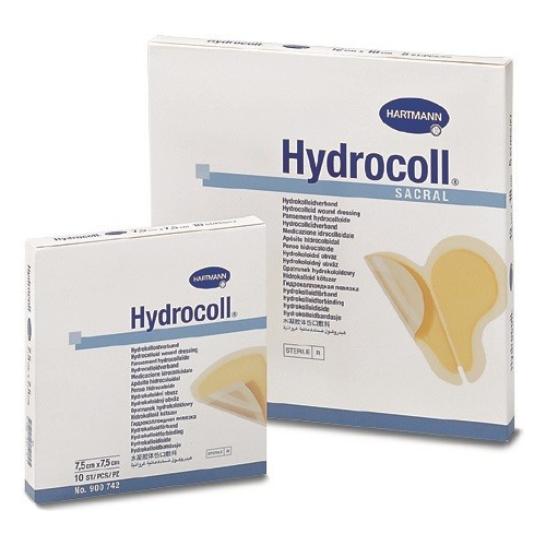 Hydrocoll thin zelfklevend hydrocolloïd verband 10 x 10 cm. 10 stuks